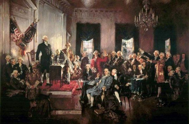 Чем примечательна конституция сша?