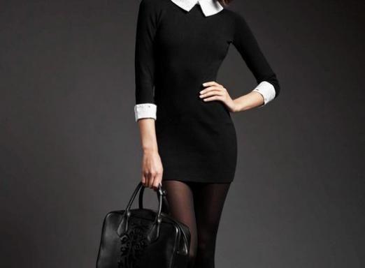 Що носити з чорним платтям?