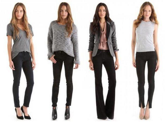 що носити з чорними джинсами
