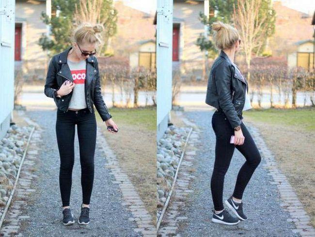чорні джинси фото