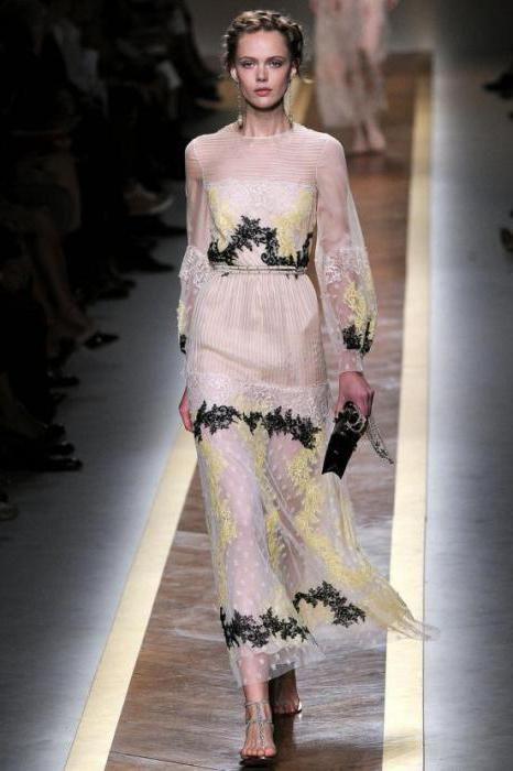 шифонові сукні до підлоги з рукавом