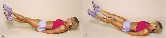 вправа для стегон з положення лежачи