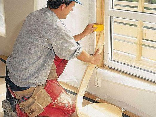 Как клеить окна?