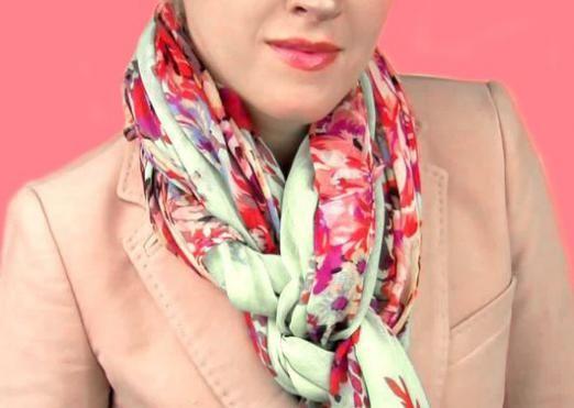 Як красиво зав'язувати шарф палантин?
