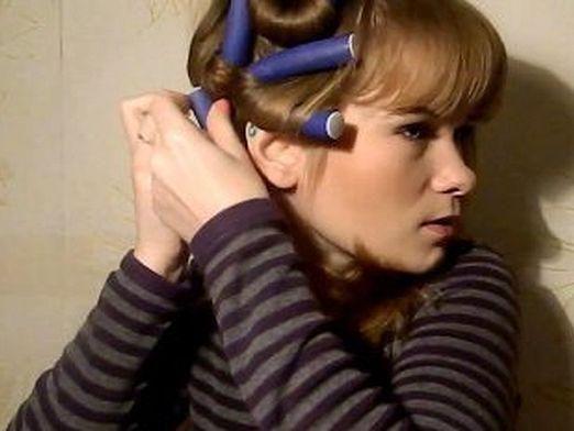 Как накрутить волосы на папильотки?