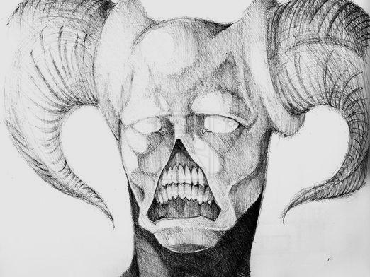 Как нарисовать демона?