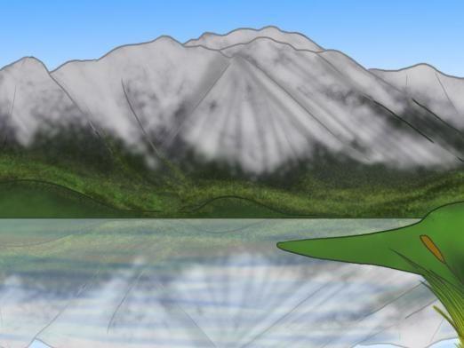 Как нарисовать горы?
