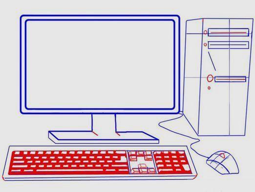 Как нарисовать компьютер?