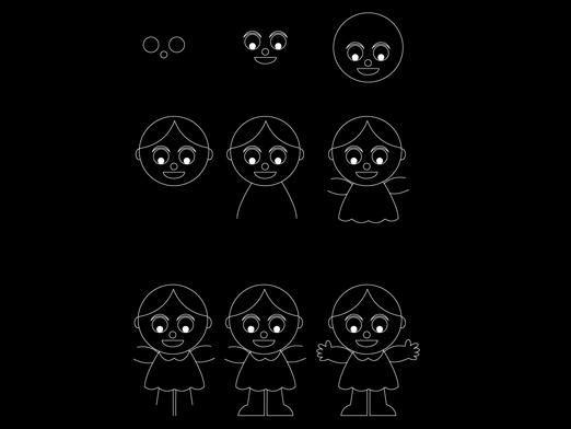 Как нарисовать куклу?