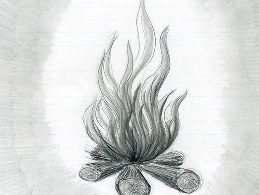 Как нарисовать огонь?