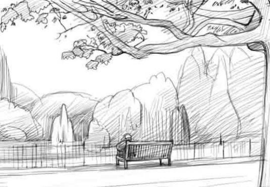 Как нарисовать пейзаж поэтапно?