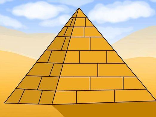 Как нарисовать пирамиду?