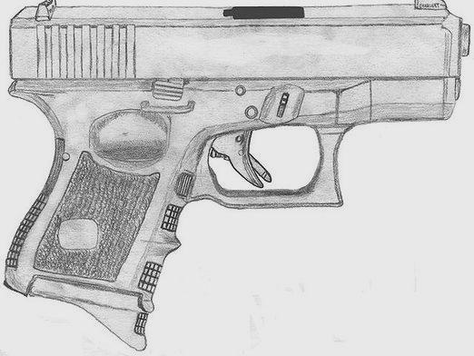 Как нарисовать пистолет?