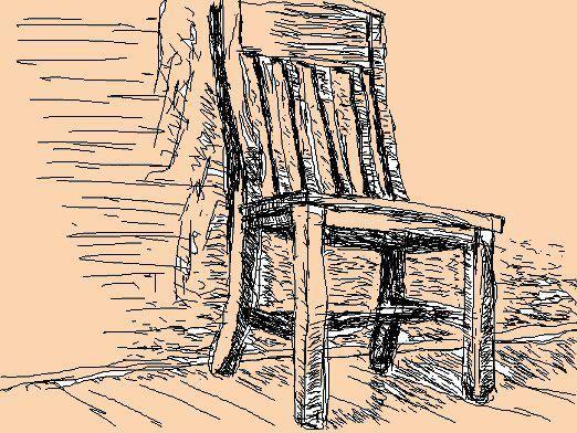 Как нарисовать стул?