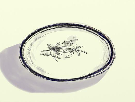 Как нарисовать тарелку?