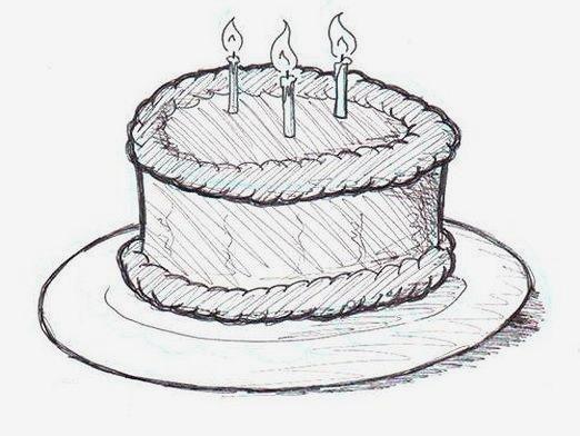 Как нарисовать торт?