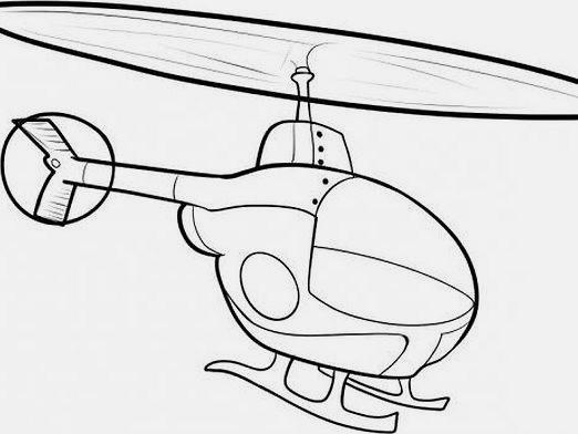 Как нарисовать вертолет?