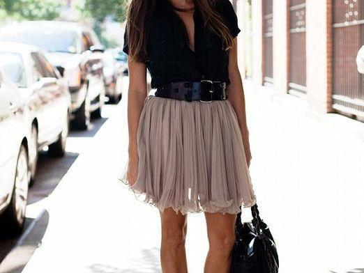 Как носить юбку?