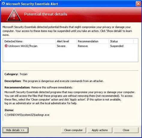 Оптимізувати роботу комп'ютера, Windows XP