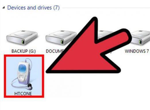 Как подключить htc к компьютеру?