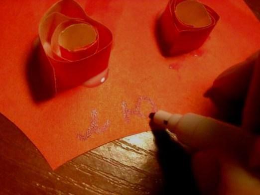 Как подписать открытку любимому?