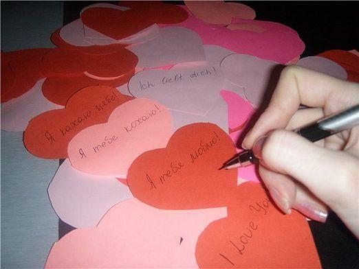 Как подписать валентинку?