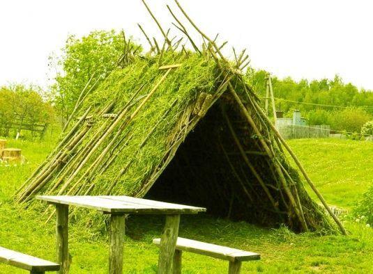 Как построить шалаш?