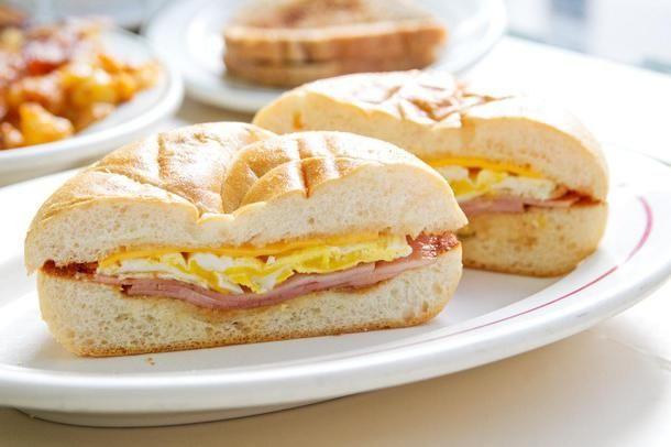 гарячі бутерброди з ковбасою на сковороді