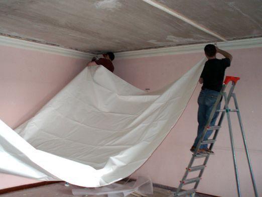 Как сделать натяжной потолок?
