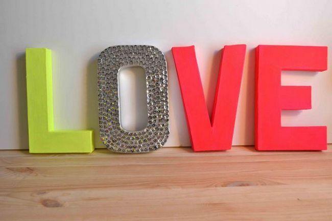 об'ємні букви на весілля своїми руками
