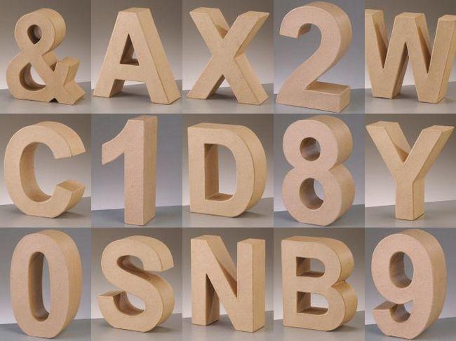 об'ємні букви з картону своїми руками