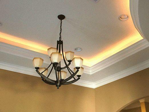 Как сделать подсветку потолка?