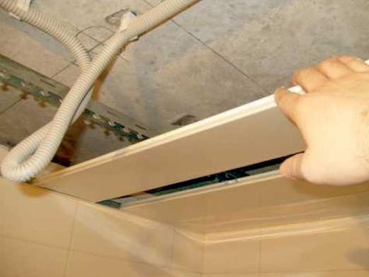 Как сделать потолок из панелей?