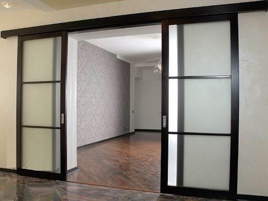 Как сделать раздвижные двери?