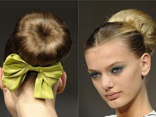 Как сделать шишку из волос?