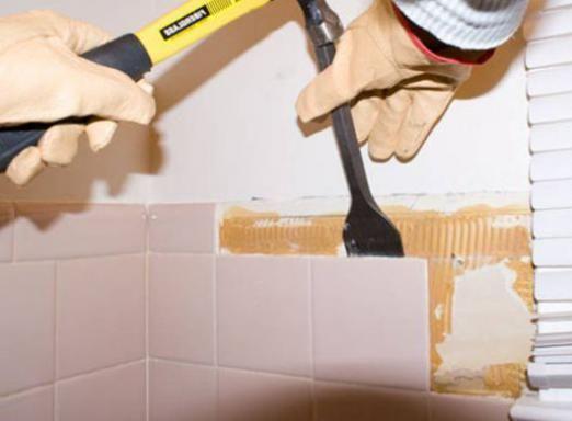 Як зняти плитку зі стіни?