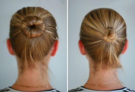 Как собрать волосы в пучок?