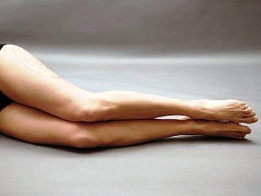 Как убрать жир с ног?