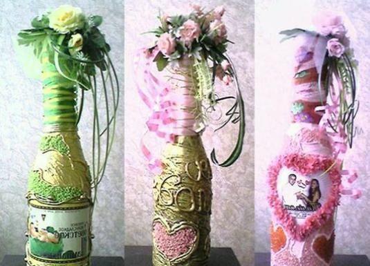 Як прикрасити пляшку шампанського?