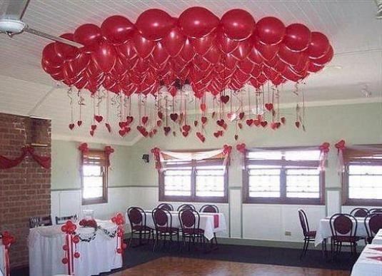 Как украсить шарами?