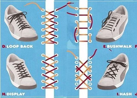 Как зашнуровать шнурки?