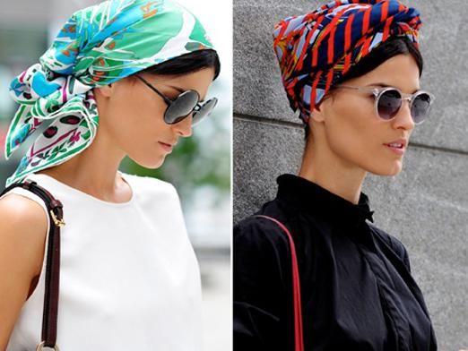 Як зав'язати шарф на голові?