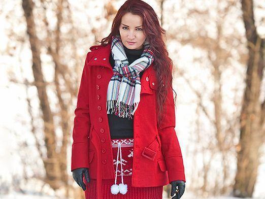 Как завязать шарф зимой?
