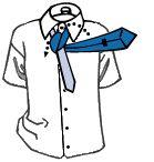 Як зав'язувати краватку: вузол Кент (Small knot)