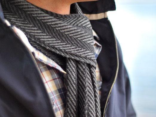 Как завязывать шарф мужчинам?