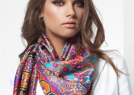 Как завязывать шарф (платок)?