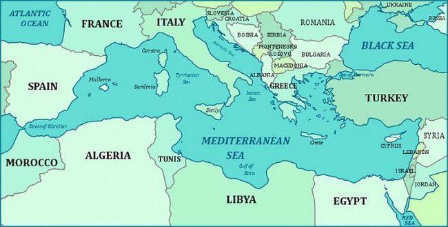 яке море в Греції Родос