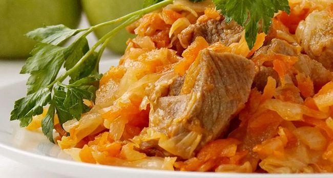 Рецепт капусти з грибами