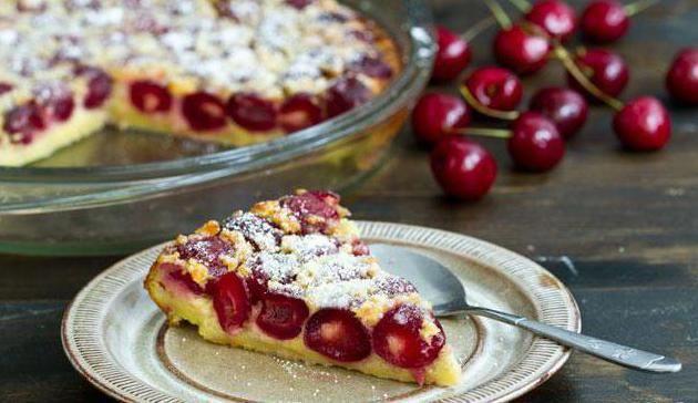 пиріг клафути з вишнею