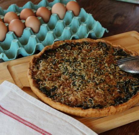 Лоранскій пиріг з куркою і грибами